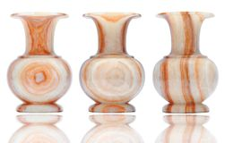 Vintage marble vase. Isolate on white Royalty Free Stock Images