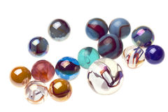 Vintage marbles isolated Royalty Free Stock Photo