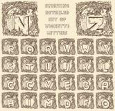 Vintage marine alphabet Royalty Free Stock Photo
