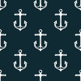 Vintage marine anchors seamless pattern Stock Image