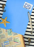 Vintage marine background Royalty Free Stock Photo