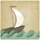 Vintage marine background Stock Image