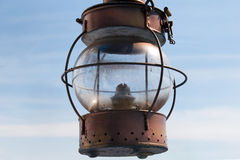 Vintage marine lantern with a wick. Stock Images