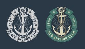 Vintage marine logo royalty free illustration