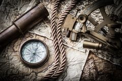 Vintage marine still life Royalty Free Stock Images