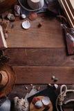 Vintage Marine Wooden Background Imagen de archivo libre de regalías