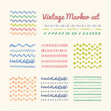 Vintage Marker strokes set Stock Photos