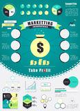 Vintage marketing infographics element. vector illustration. Royalty Free Stock Photos