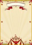 Vintage marrón fantástico del circo ilustración del vector