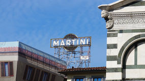 Vintage Martini advertising old banner stock photos