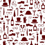 Vintage masculine pattern Royalty Free Stock Images