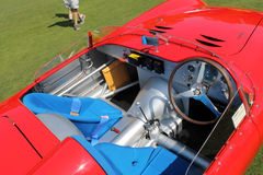 Vintage Maserati Tipo 200S cockpit from above Royalty Free Stock Image