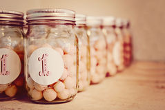 Vintage mason jars Royalty Free Stock Photos