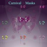 Vintage, masques de carnaval Photos libres de droits