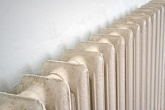 Vintage massive central heating radiator (battery) Stock Image