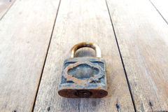 Vintage master key on wood Royalty Free Stock Photo