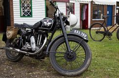 Vintage Matchless motorcycle Royalty Free Stock Photos