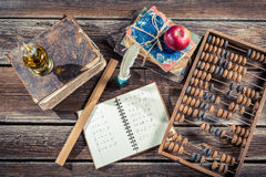 Vintage mathematics classes in school Stock Images