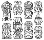 Vintage Maya Civilization Objects Collection illustration libre de droits