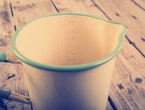 Vintage Measuring Jug Filtered Stock Photo