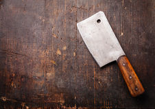 Vintage Meat cleaver Royalty Free Stock Photo