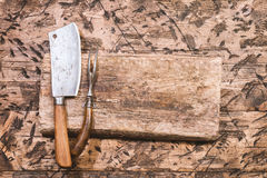 Vintage Meat cleaver Royalty Free Stock Photos
