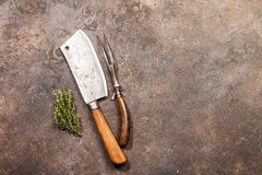 Vintage Meat cleaver Royalty Free Stock Images