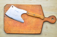 Vintage Meat cleaver Stock Image