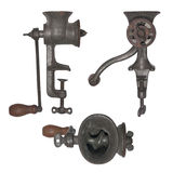 Vintage meat grinder isolated Royalty Free Stock Photography