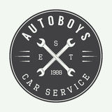 Vintage mechanic label, emblem and logo. Stock Photo