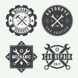 Vintage mechanic label, emblem and logo. Stock Image