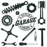 Vintage Mechanic Tools Set Royalty Free Stock Image