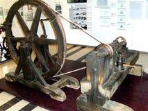 Vintage mechanica transmission. Technical Museum in Vienna (Technisches Museum Wien). Transmission gear but straight teeth. Vintage. Mechanical engineering stock image