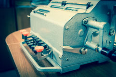 Vintage mechanical adding machine Stock Image
