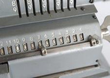 Vintage mechanical arithmometer Royalty Free Stock Photography