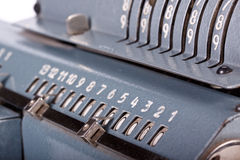 Vintage mechanical calculator Royalty Free Stock Images