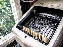 Vintage Mechanical Calculator Stock Photography