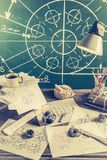 Vintage mechanical Laboratory in School royalty free stock photo