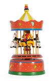 Vintage mechanical toy carousel Stock Photos