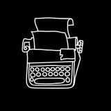 Vintage mechanical typewriter. Sketch vector illustration Royalty Free Stock Image