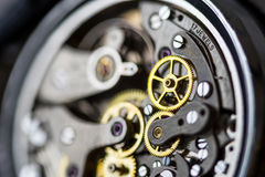 Vintage mechanical watch close-up Stock Photos