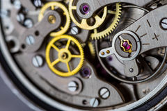 Vintage mechanical watch parts Royalty Free Stock Images