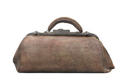 Vintage medical doctor�s bag isolated. Royalty Free Stock Photography