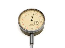 Vintage medical manometer isolated Royalty Free Stock Photo