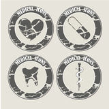 Vintage medicals icons Stock Photo