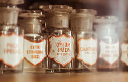 Vintage medications Royalty Free Stock Photography