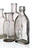 Vintage medicine bottles. Isolated on white ground Stock Photos
