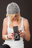 Vintage medium format camera Royalty Free Stock Photo