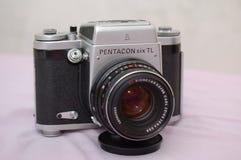 Pentacon six TL. Vintage medium format camera Pentacon six TL stock image