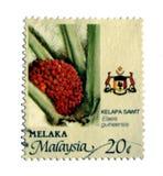 Vintage Melaka Stamp Stock Photography